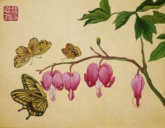 안녕하세요~ 선데이민화 투데이클래스(2주) 투데이클래스에서 진행되는 금낭화와 나비 도안을 소개해드릴게...