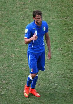 Claudio Marchisio of Italy walks off the pitch after receiving a red card during the 2014 FIFA World Cup Brazil Group D match between Italy ...
