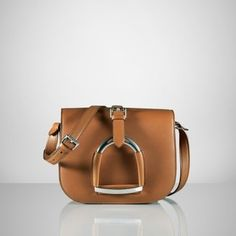 ShopStyle: Ralph Lauren Equestrian Calf Shoulder Bag