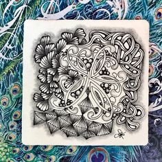 Tangling for Square One Facebook Group with the first four days of #Inktober. Tangles used are #Ginili, #Mooka, #Yah and #Facets. Tangle Art, Zentangle Patterns, Inktober, Tangled, Line Art, Purple, Pink, Drawings, Day
