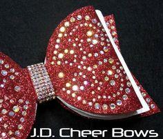 d854b5a0e446 Sweetheart Rhinestone Three Layer Dolly Style Tailless Cheer Bow - Many  Colors, Tuxedo Bows, Tuxedo Cheer Bow