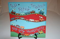The Potty Train! Boy's potty training chart from my OMC designer days. Tutorial included.