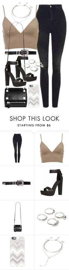 """""""Outfit for clubbing"""" by ferned ❤ liked on Polyvore featuring Topshop, Givenchy, Lauren Klassen, Casetify and Forever 21"""