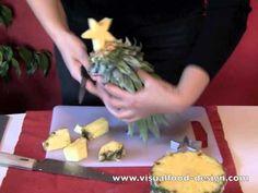 Albero di Natale con ciuffo d'ananas - Tutorial Visualfood