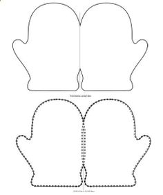 printable mitten card template