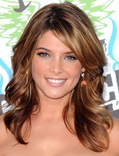 Ashley Greene has a beautiful, rich brown with softened highlights that are within the same color family to make them look more natural.