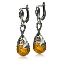 Sterling Silver Amber Drop Leverback Large Earrings.More info for silver hoop earrings;sapphire earrings;chandelier earrings;stud earrings for women;heart earrings could be found at the image url.(This is an Amazon affiliate link and I receive a commission for the sales)