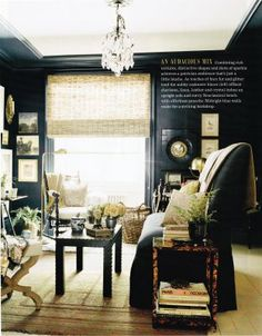 black walls office inspiration