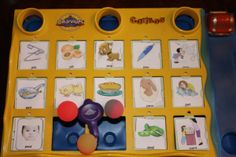 Remake a Cariboo game into an apraxia game with target words. This is a great game to be on the lookout for at consignment sales.