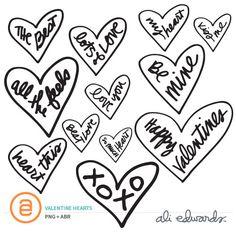 Valentine Hearts at Ali Edwards