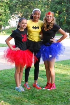 Super hero votes for teen girls, t shirts and tutus