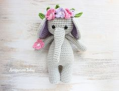 This charming elephant is a free crochet pattern on Amigurumi Today.