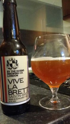 By The Horns Vive La Brett Saison. Watch the video beer review here www.youtube.com/realaleguide
