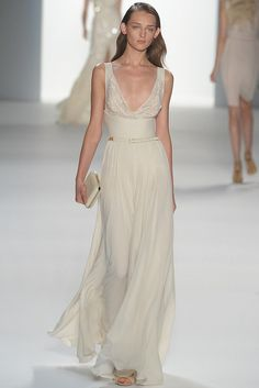 Draped ivory gown by Elie Saab (Spring 2012 RTW), http://www.onewed.com/photos/show/cowl-neck-wedding-dress-inspired-by-the-royal-wedding