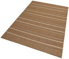 Details: Streifen-Teppich, Fußbodenheizungsgeeignet, strapazierfähig, Qualität: Maschinengewebt, 1,1 kg/m² Gesamtgewicht, 3 mm Gesamthöhe, Flormaterial: 100% Polypropylen, ...
