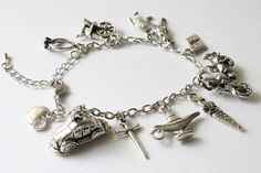 Once Upon a Time Characters Bracelet Once Upon a by CissyPixie, $13.00
