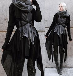 Witch aesthetic, dark mori and strega fashion Witch Fashion, Gothic Fashion, Mode Mori, Mode Outfits, Fashion Outfits, Casual Outfits, Mode Sombre, Looks Style, My Style