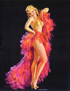 Vintage Pin Up Girl Illustration | Pin-Up Girls - but darling, the outfit was on sale, so can I keep it?