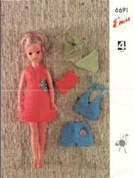 5 different knitting pattern sets for vintage Sindy (Barbie) free
