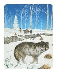 3 of Swords card from the Snowland Tarot (Art by Ron Boyer)