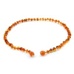 <3 www.ambercrown.com <3 Amber Teething Necklace for Babies