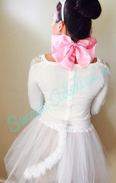 Aristocats Marie Tutu Costume with Fluffy by SweetAdelinesShop