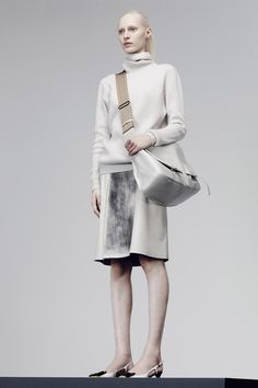 Bottega Veneta | Pre-Fall 2014 Collection | Style.com   Bottega Veneta designer Tomas Maier's obsession is fabric. He can riff on Japanese mills' superiority to those of France and Italy, and follow that with an explanation of why some polyester is more expensive than silk.