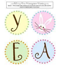 Easter banner - printable