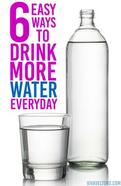 6 easy ways to drink more water. I'm doing #4 for sure!