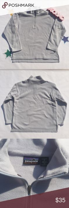 Patagonia Synchilla Fleece Pullover Sz Small Patagonia Synchilla Pullover Jacket Does not have pockets like the Classic or Marsupial Size: Small Regular Fit Color: Soft (Powder) Blue Measurements:  - Waist Length   - Bust: 34 - 35 in Patagonia Jackets & Coats