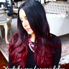 DIY Red Ombre Hair Tutorial by Naseem D