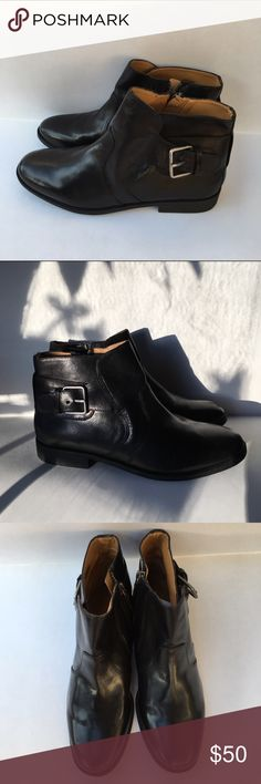 Nine West Booties Nine West Vintage America Collection Black Booties With Buckle Detail,Vatoughenup Leather Upper 0612 Balance Man Made 7M, New Without Box (tried on in doors but they are too small for me) Nine West Shoes Ankle Boots & Booties