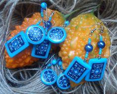 Earrings with hand-painted...Ar-Mari Rubenian