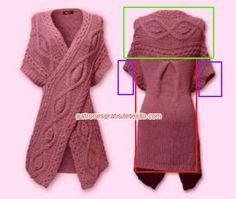 Best Tejido Crochet Paso A Paso Chalecos Ideas Baby Booties Knitting Pattern, Knit Vest Pattern, Sweater Knitting Patterns, Crochet Coat, Crochet Cardigan, Crochet Clothes, Crochet For Boys, Crochet Baby Hats, Mode Crochet