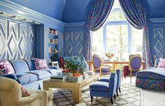 Best Blue Rooms - Blue Decorating Ideas - Veranda