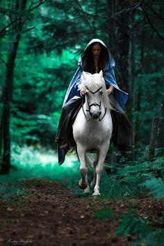 """elvenforestworld: """"  Cyan woods by Miina Anahita """""""