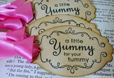 Yummy for your Tummy Gift Tags Perfect for Candy by craftypagan