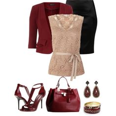 Burgandy shoes, created by divacrafts on Polyvore