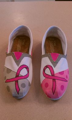 Breast Cancer Awareness Toms - one of the only pairs I'd wear