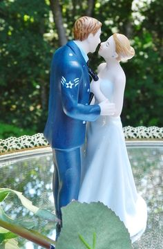 Military Air Force Airman  Wedding Cake Topper by spartacarla, $125.00