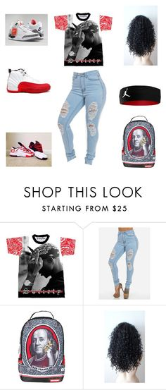 """2 pac"" by aleisharodriguez ❤ liked on Polyvore featuring Retrò and Sprayground"