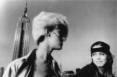 """areyoujelen: """" """"Out there they all pretend to be nice, but in here we aint pretending shit."""" The criminally underrated Paula E. Sheppard with Anne Carlisle in New York. Promo shot for Liquid Sky 1982 """""""
