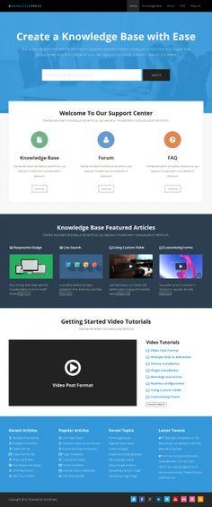 Knowledge Base And Wiki WordPress Themes