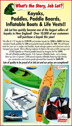 Job Lot Kayak : kayak, Whats, Story, Ideas, Story,