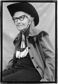 Juanita Hackett Howell - Cowgirl Hall of Famer, Hereford, Texas, 1992  Trick rider of the 30′s & 40′s, and daughter of famous rodeo rider, Prairie Rose.