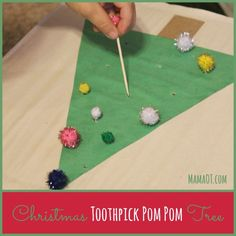 Work on a variety of fine motor skills such as pincer grasp, wrist extension, and bilateral coordination with this Christmas fine motor activity! #finemotor #childdevelopment #mamaot