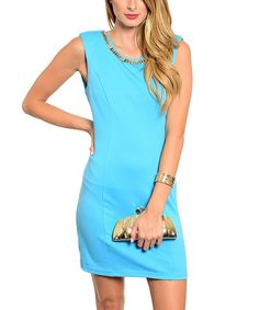This Forever Lily Blue Sleeveless Dress by Forever Lily is perfect! #zulilyfinds