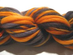 handspun yarn Happy Halloween thick and by SpinningWheelStudio, $20.00