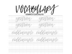 Learn some unusual words that you may or may not have heard of in Julys theme: Vocabulary. This pack consists of 30 double letter words to practice your hand lettering and stretch your vocabulary. Your download includes PDF and JPG files to optimize printing or importing to