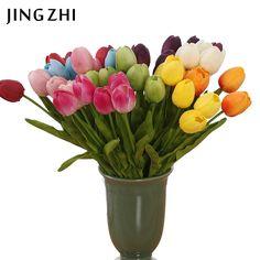 Find More Decorative Flowers & Wreaths Information about 10pcs/lot Tulip…